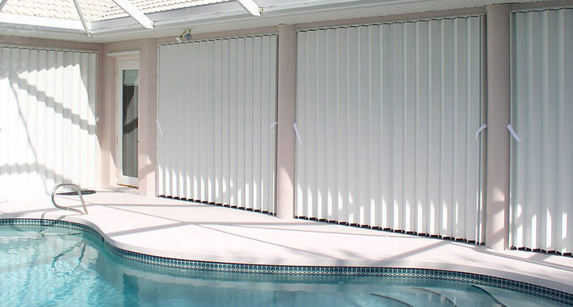 Accordion Shutters offer superior strength and protection from storms and intruders. They are the most popular shutter due to the ease of operation and cost.