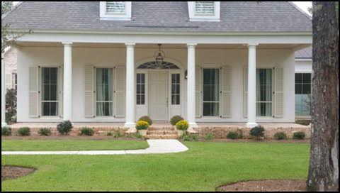 Our Colonial Shutters add beauty and value to your home. They are fully functional yet look decorative. They are permanently mounted and can be easily secured in the event of a storm.